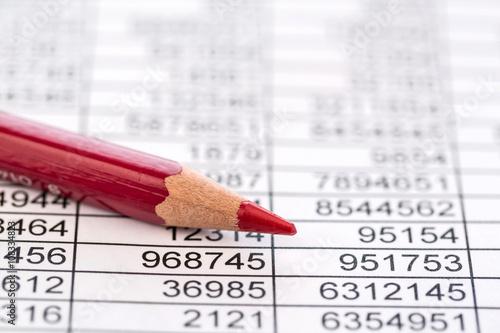 Leinwanddruck Bild Statistik und Tabellen