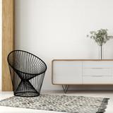 Fototapety Armchair of black thread in white interior