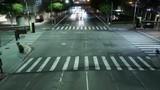 Night Cityscape Time Lapse 64 Traffic in LA Downtown Tilt Down