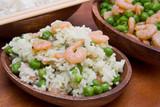 riso gamberi e piselli, cucina cinese