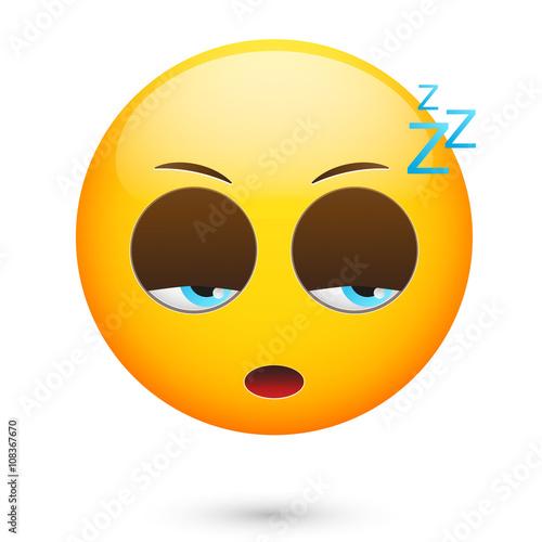 Emoticon sleeping Poster