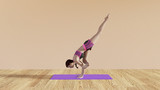 Yoga Class Fallen Angel Pose