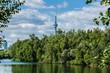 Beautiful Toronto's skyline over lake. Toronto, Ontario, Canada.