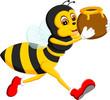 Obrazy na płótnie, fototapety, zdjęcia, fotoobrazy drukowane : illustration of cute bee cartoon