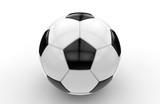 Black and white soccer ball; 3d rendering