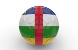 Soccer ball with Central Africa Republic flag; 3d rendering
