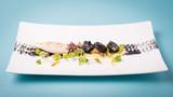 Haute cuisine presentation of cuttlefish.