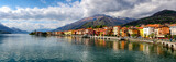 Lago di Como (Lake Como) Gravedona panoramic view at sunrise - 108390430