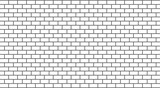 Vector white brick wall