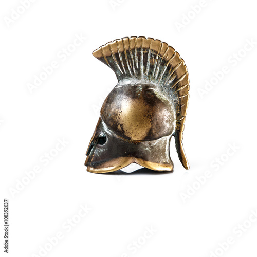 Poster Ancient Greek Helmet Spartan Style Isolated