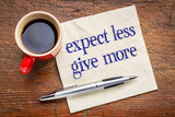 expect less, give more advice