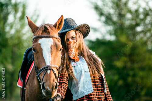 girl and horse © sergo321