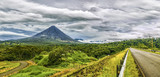 Fototapety Panoramic view of Arenal Volcano during a cloudy day