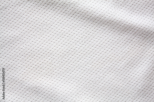 White sports clothing fabric jersey