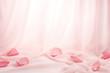 Rose petals on soft silk