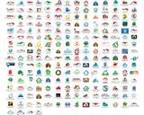 Fototapety Set of 214 web house icons