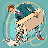 Fototapety man box prefabricated parts designer