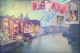 Vacanze in Italia,cartoline vintage di Venezia