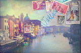 Fototapety Vacanze in Italia,cartoline vintage di Venezia
