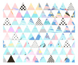 Fototapety Seamless colorful pattern with geometric shapes.