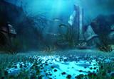 3D Rendered Underwater Fantasy Landscape