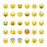 Fototapety Set of emoticons, emoji isolated on