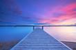 Urlaub am See, Badesteg zum Sonnenuntergang