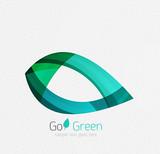 Green concept, geometric design eco leaf