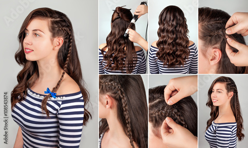 hairstyle for long hair tutorial © alter_photo