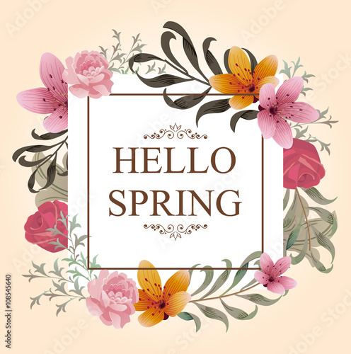 Beautiful Spring Design for apparel