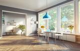 modern kitchen interior. 3d cioncept - 108558042