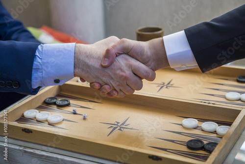 The Game of Backgammon плакат