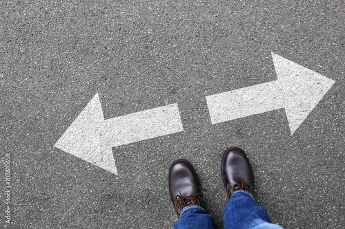 Poster Entscheidung entscheiden Business Konzept Businessman Ziele Erfo