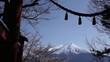 Obrazy na płótnie, fototapety, zdjęcia, fotoobrazy drukowane : 新倉山浅間神社の鳥居から見た富士山と桜