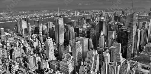 Midtown Manhattan Skyline (Black and White) Poster