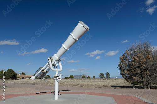 Plexiglas white telescope at outdoor