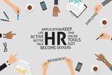 vector HR concept,template