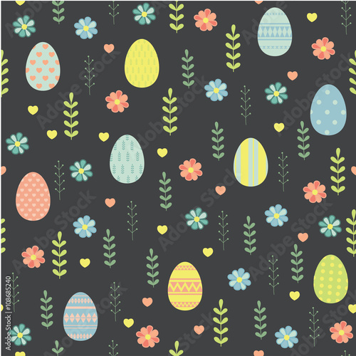 Materiał do szycia Easter. Vector seamless pattern.