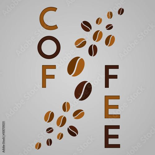 Fototapeta Abstract coffee background