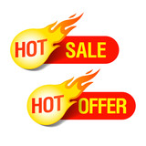 Hot Sale and Hot Offer labels