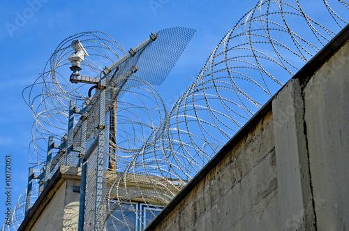 Poster Stacheldraht, Grenze, Gefängnis