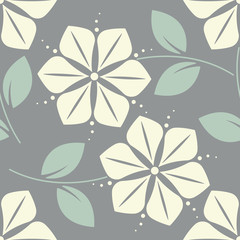 Cute seamless pattern with decorative flowers