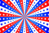 American Background with Stars and Stripes in Red, White and Blue - 108741462