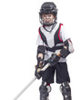 Young hockey player at ammunition