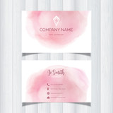 Watercolor design business card