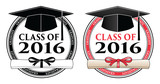 Graduating Class of 2016 is a design in black and white and color that shows your pride as a graduate of the class of 2016. Includes a cap, text and diploma. Great for t-shirt designs.