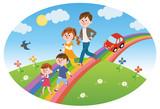 虹を走る 家族