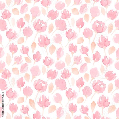 Materiał do szycia Śliczne kwiaty akwarela bezszwowe wektor wzór. kwiatowy wzór dla projektu
