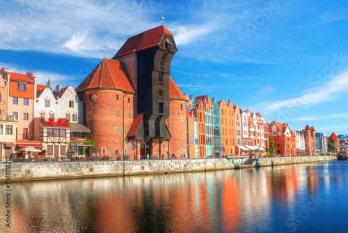 obraz PCV Gdańsk w pogodny dzień