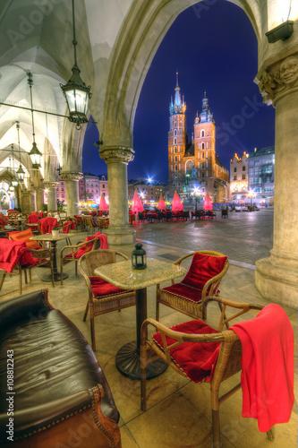 Papiers peints Cracovie Kraków stare miasto nocą